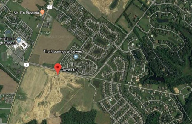 A pedestrian was hit in a serious crash Tuesday afternoon in Lewes, according to Delaware State Police.