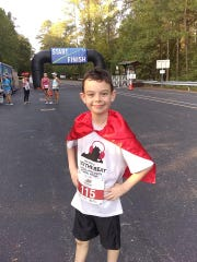 Jesse Burdette, 9, participated in his first fun run at the Rock the Beat Fun with Mended Little Hearts of Coastal Virgnia, 5 months after his open heart surgery in summer 2018.