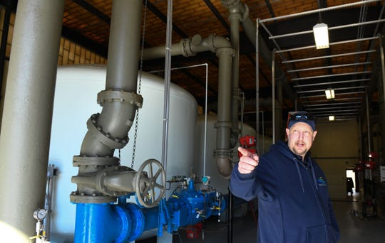 Salisbury Water Treatment Plant Superintendent Ron Clapper walks through the Naylor Mill Paleo Water Plant on Tuesday, Feb. 19, 2019.
