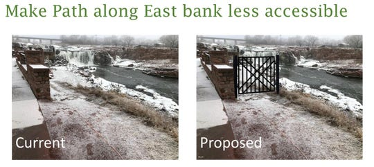 City Hall is proposing an undesignated footpath near the Big Sioux River be closed-off with a gate.