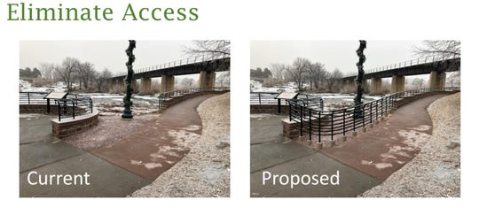 A safety review released in December 2018 is behind City Hall's proposal to add more railing in Falls Park.