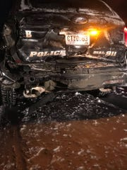 """A person rear ended a stopped patrolcar on Highway 37 near Huron Sunday, causing a """"serious accident"""" and """"major damage"""" toboth vehicles after they failed to move over."""