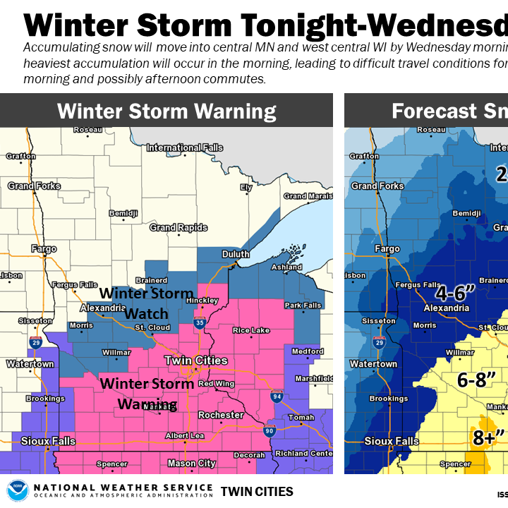 Storm could break St. Cloud's February snow record; city declares snow emergency Thursday