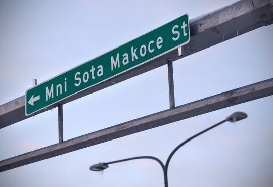 A sign marks the intersection of a newly named street with 33rd Avenue South Tuesday, Feb. 12, near the Costco development in St. Cloud.