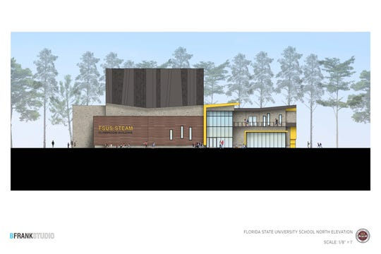 A conceptual rendering of the FSUS STEAM building that is slated to start construction spring 2019. This would be the north side of the building.