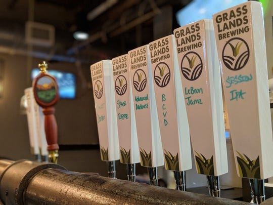 GrassLands Brewing debuted new tap handles this week in its Gaines Street tasting room.