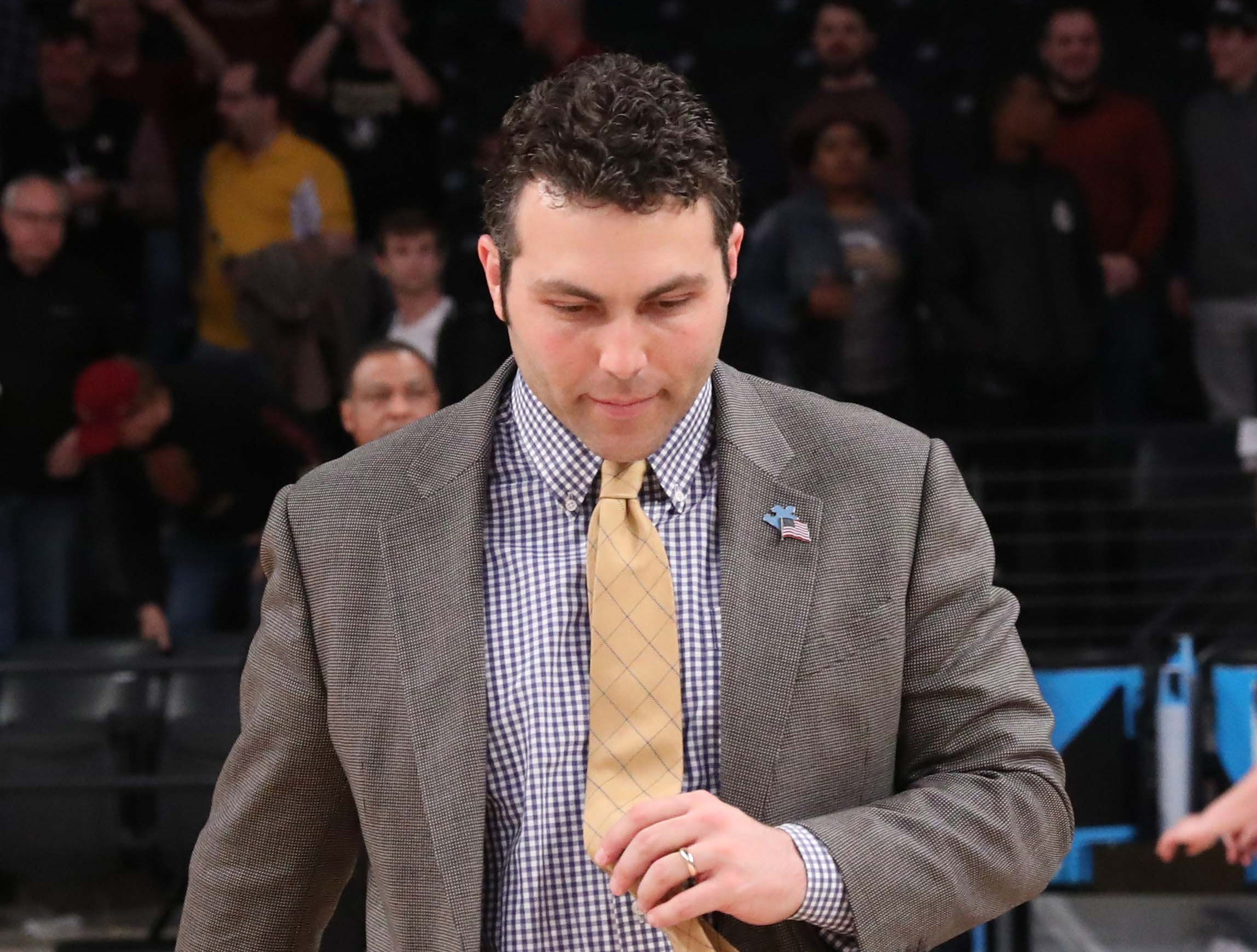 Feb 16, 2019; Atlanta, GA, USA; Georgia Tech Yellow Jackets head coach Josh Pastner walks off of the court after their loss to the Florida State Seminoles at McCamish Pavilion. Mandatory Credit: Jason Getz-USA TODAY Sports