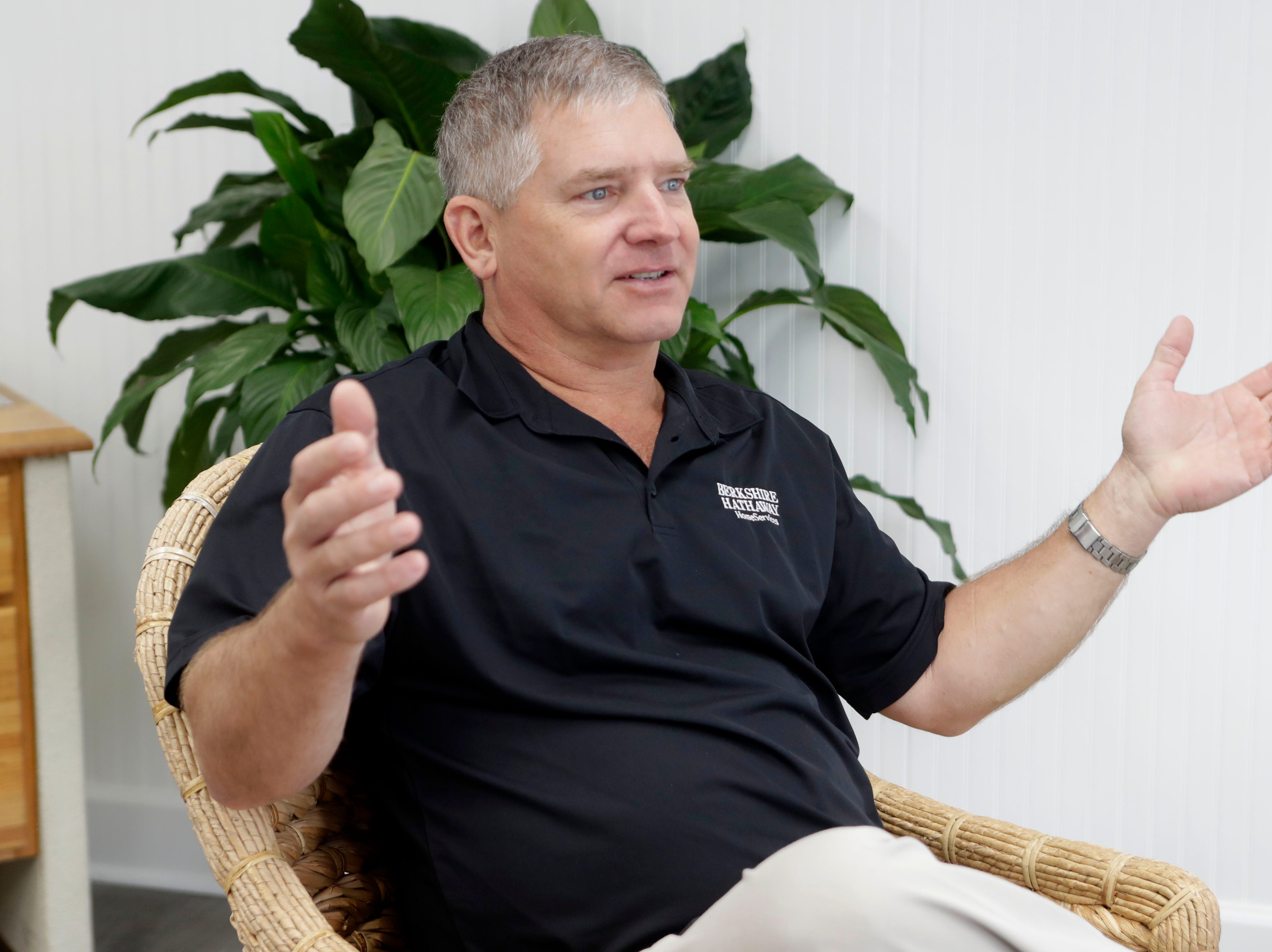 Grayson Shepard, a realtor with Berkshire Hawthaway Home Services on St. George Island, Fla., talks about the annual chill cook off and how they have more competitors registered than in previous years, Tuesday Feb. 19, 2019.
