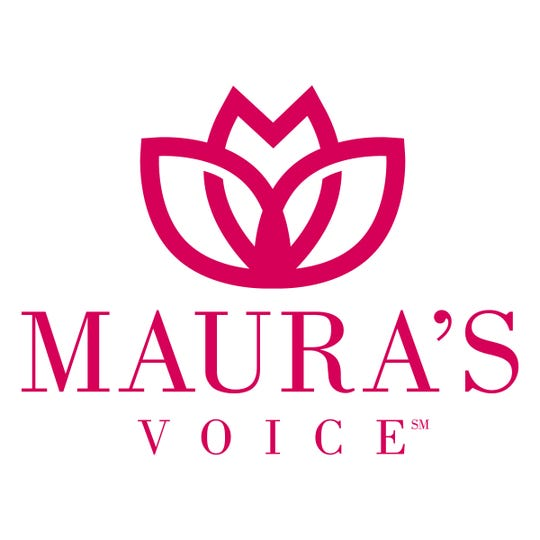 The logo for Maura's Voice, a lotus flower, is a metaphor Maura Binkley used in conversations about transformation.