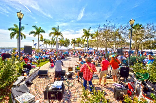 Firewater Tent Revival, who camefrom Jacksonville, performs Feb. 16 at the Downtown Fort Pierce Farmers' Market's 22nd anniversary celebration.