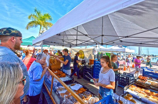 Importico's Bakery serves delicious pastries at the Downtown Fort Pierce Farmers' Market on Feb. 16.