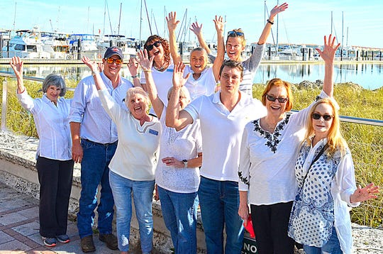 Downtown Fort Pierce Famers' Market board members, from left, front row, Faith Conti, Norma Maguire, Ryan Abernethy, Linda Hudson and Victoria Bush; second row, Mary Ann Bryan, Chet Boudrias, Kia Fontaine, Brenda Gibbons and Kate Rotindo.