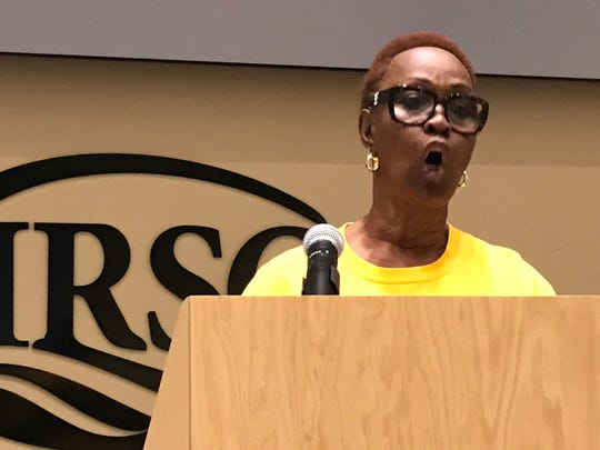 Janet Taylor, a former Hendry County commissioner and head of Glades Lives Matter, tells the Army Corps of Engineers not to forget residents south of Lake Okeechobee when operating the lake.