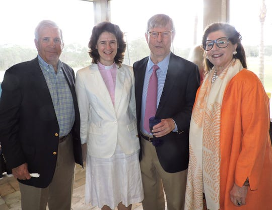 Dave Alexander and Heidi Kinner, left, with Clem and Linda McGillicuddy, honorary chairs of Samaritan Center for Young Boys & Families 2019 Great Chef Adventure Luncheon.
