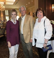 Phyllis Sutch, left, Doug Biek and Mary Ann Davie at the Samaritan Center for Young Boys & Families 2019 Great Chef Adventure Luncheon.
