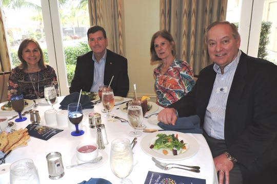 Mark and Susan Kerney, left, with Brenda and Rick Schell, board member of Samaritan Center for Young Boys & Families at the 2019 Great Chef Adventure Luncheon.