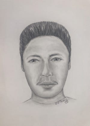 A police composite sketch depicting the suspect in an assault on an Oxnard school employee on Feb. 14.