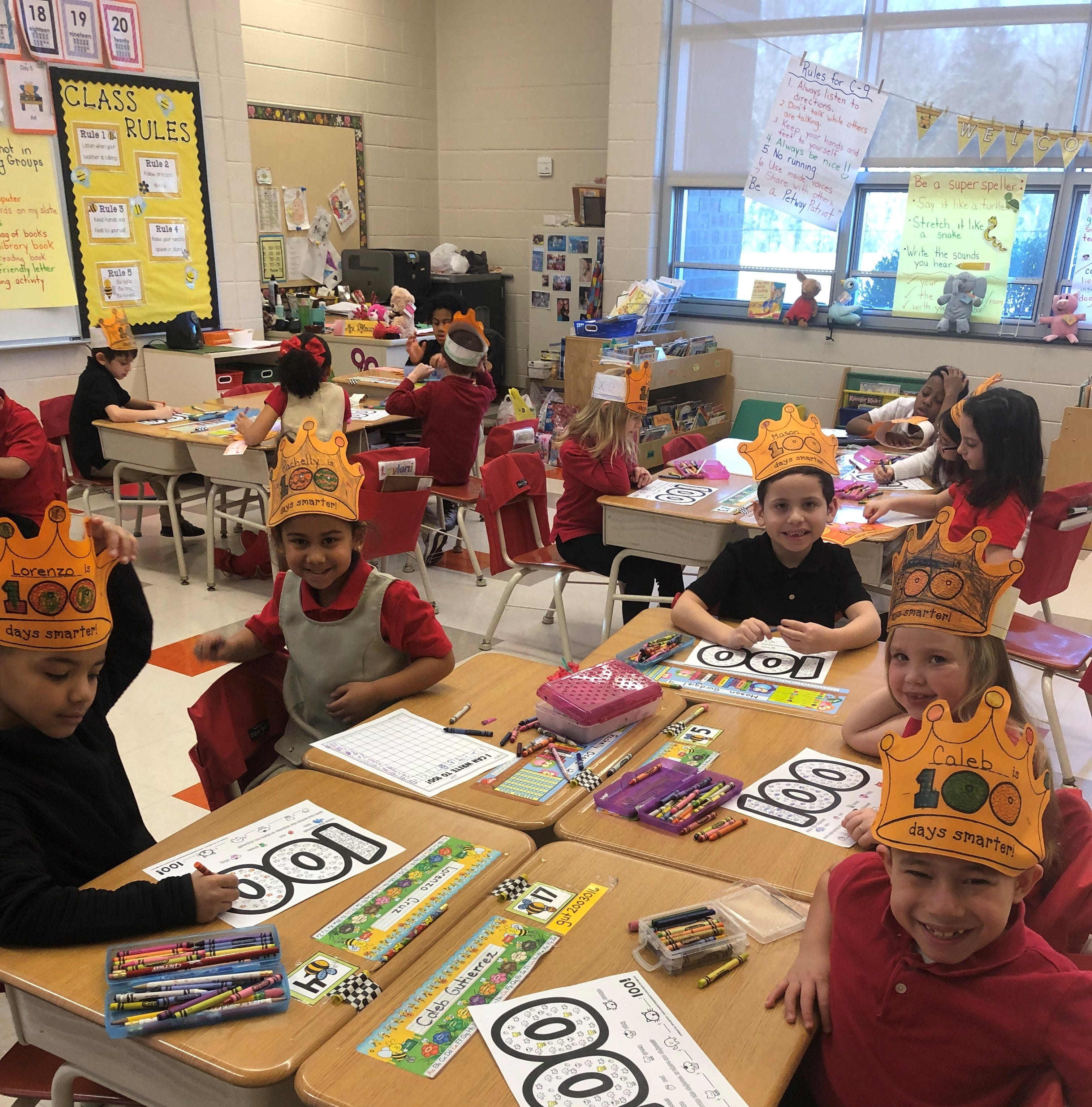 Petway celebrates 100th day of school