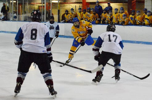 Mahopac forward T.J. McKee finished with three goals and three assists. He tied matters on separate occasions and netted the winner.