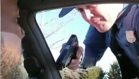 Delaware State Police are reviewing a video in which an apparent trooper drew his side gun on man during a traffic stop.