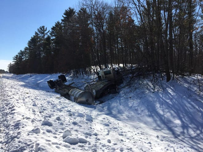 A tanker full of milk crashed on State 80 in Dexter Tuesday afternoon.