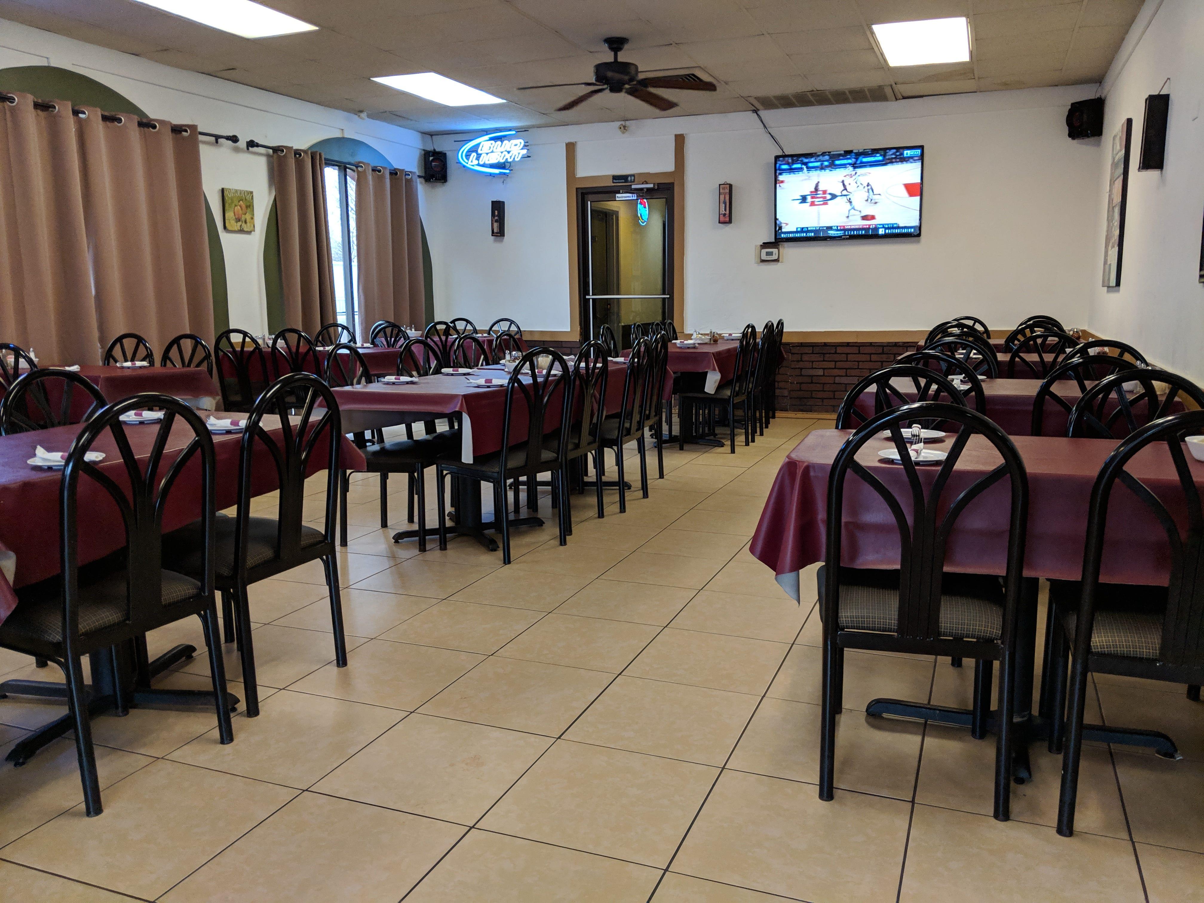Inside Napoli's Italian Restaurant.