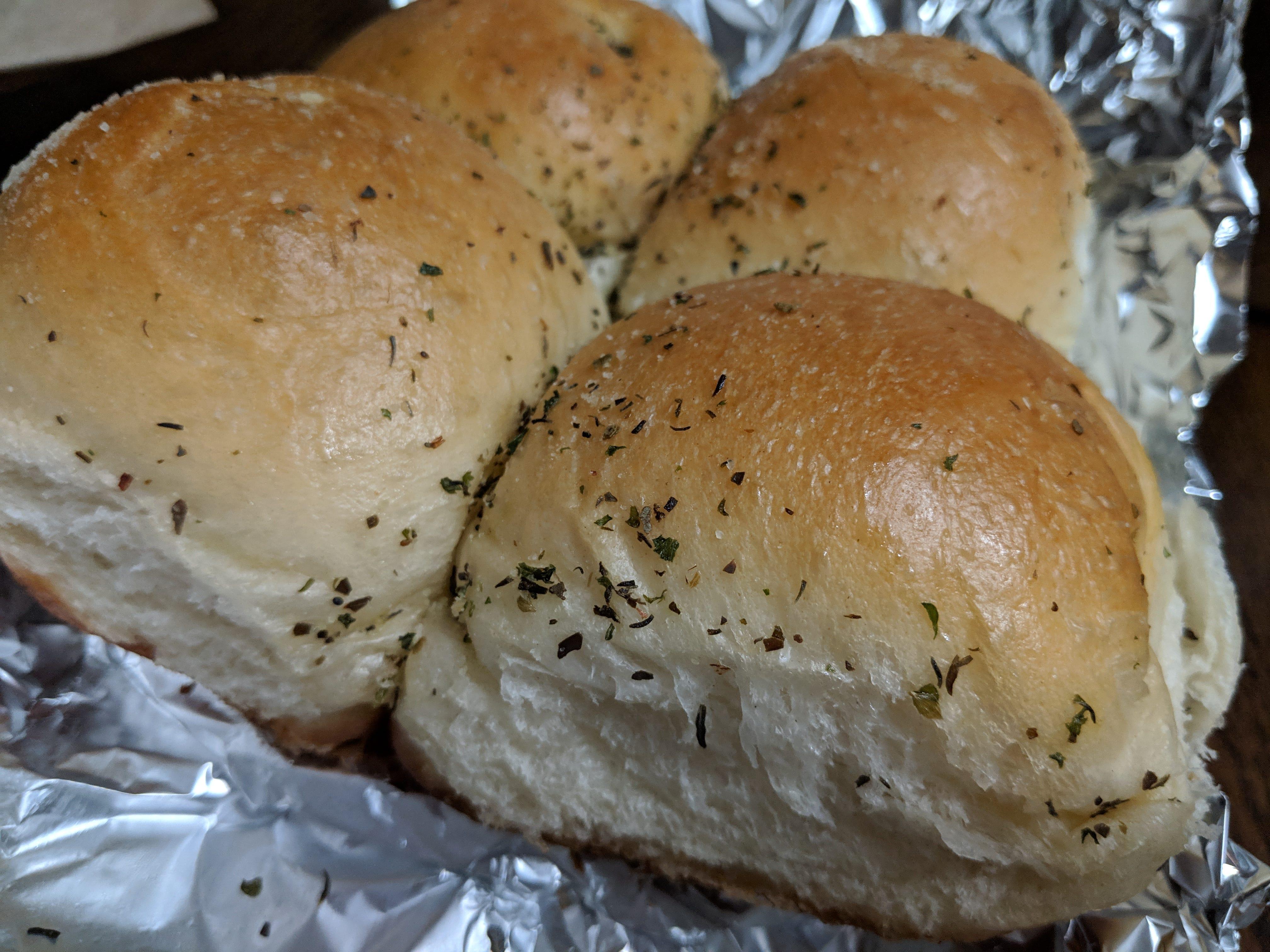 Garlic rolls at Napoli's Italian Restaurant.