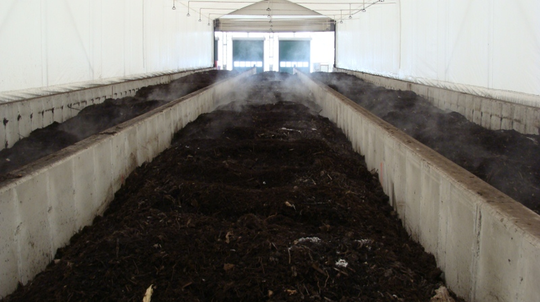 Processing techniques like composting and anaerobic digestion also raise the temperature of manure. Composting may not result in pathogen inactivation rates as high as pasteurization but can significantly reduce pathogen concentrations reducing risk of transport to humans or animals.