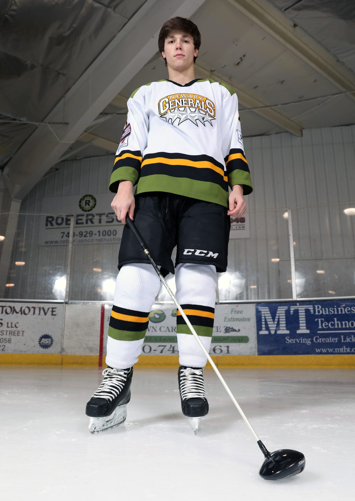 Tri-Valley High School golfer Drew Johnson also plays hockey for the Newark Generals.