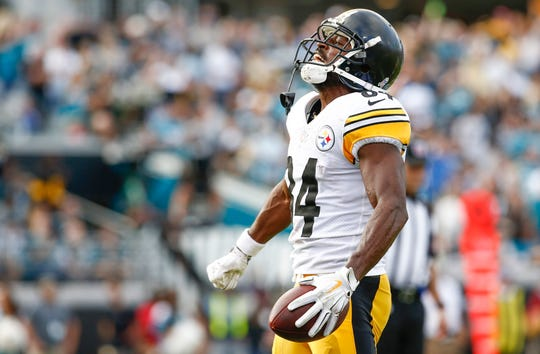 Steelers WR Antonio Brown led the NFL with a career-high 15 TD catches in 2018.