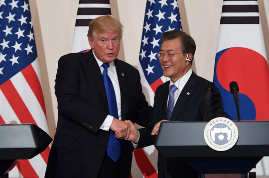 President Donald Trump and South Korean President Moon Jae-In in 2017.
