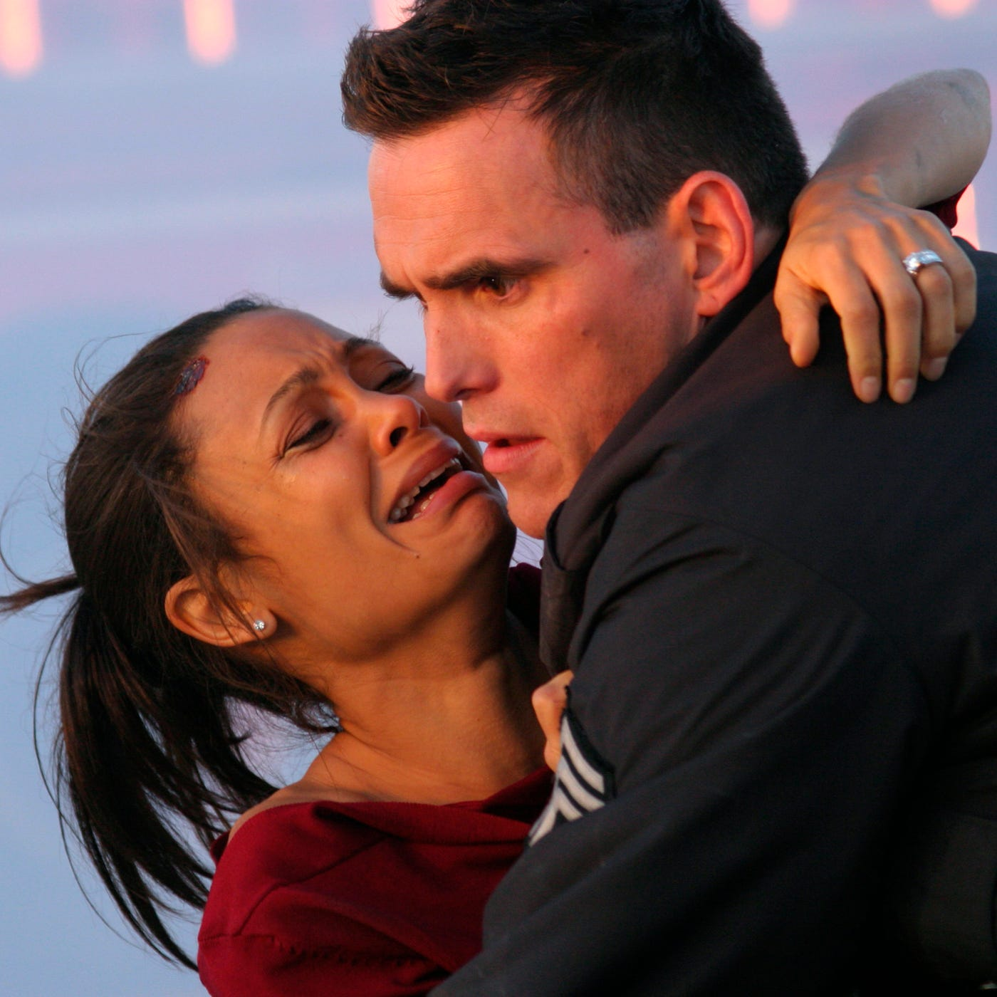 "Thandie Newton and Matt Dillon cross paths for a second time in an emotional scene from ""Crash."""