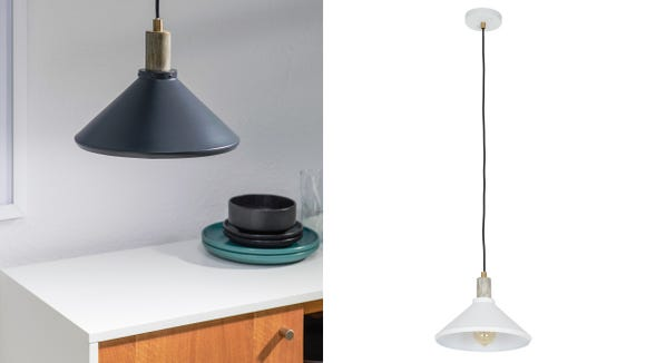 Dining room pendant lights are so in right now.