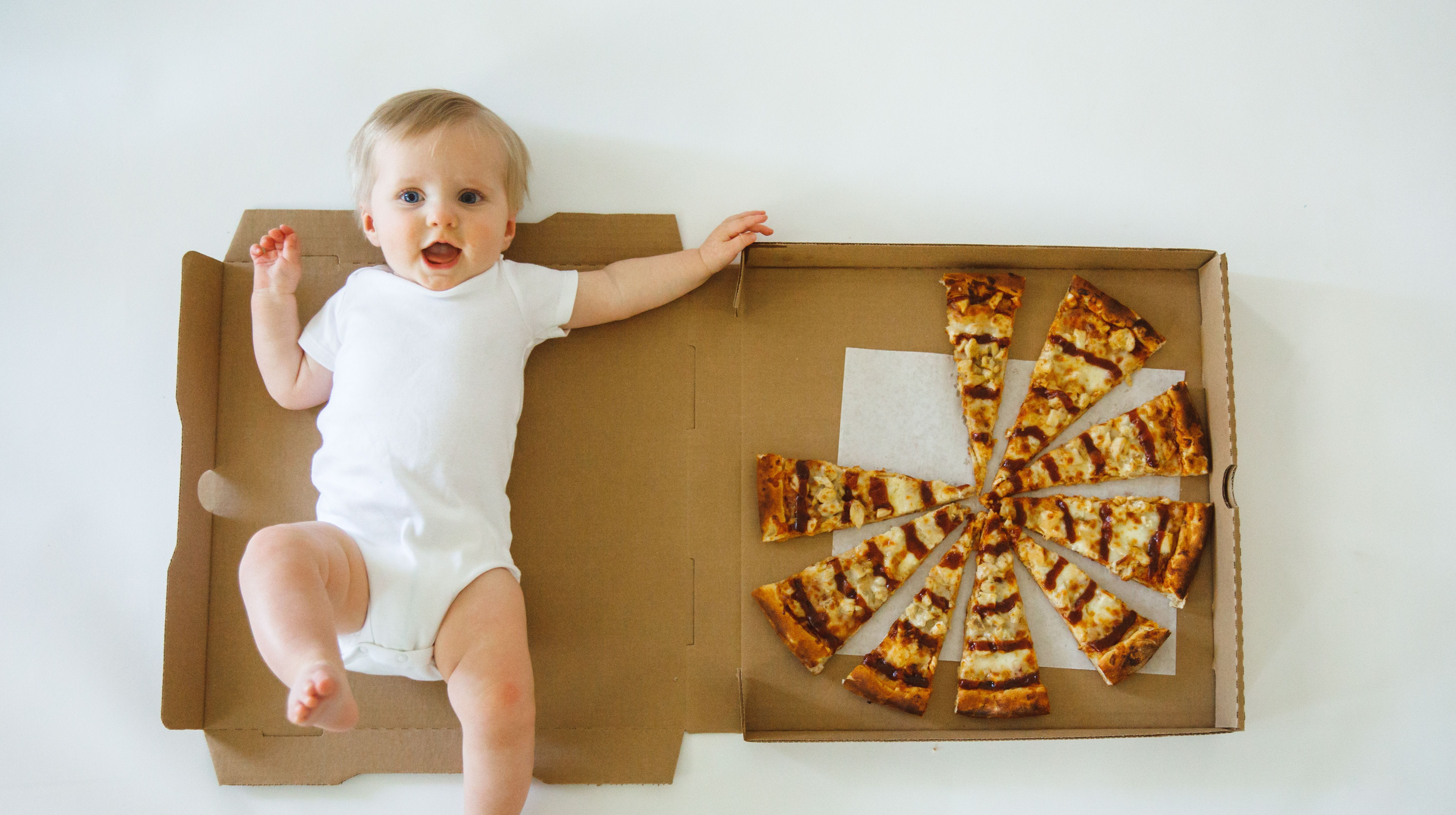 'Pizza baby' is melting hearts all over the internet with food-themed milestone photos