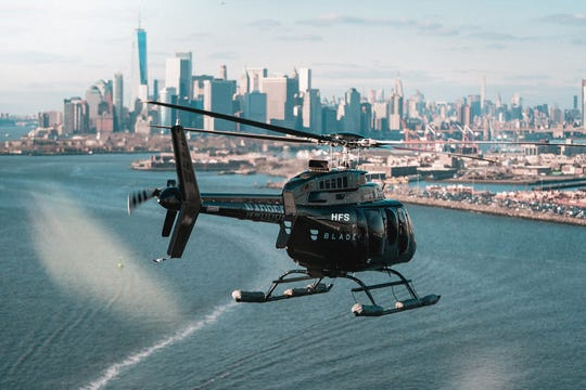 Blade will pick up passengers in their respective city and fly them to LAX or John F. Kennedy International Airport