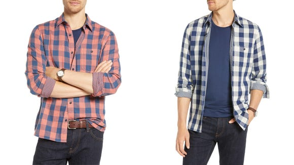 Professional meets casual in this stylish button-down shirt that's perfect for spring.