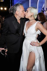 Christian Carino and Lady Gaga attend the 25th Annual Screen Actors Guild Awards on January 27, 2019 in Los Angeles.