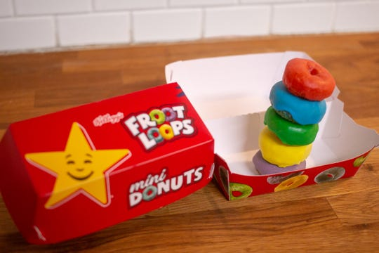 Froot Loops Mini Donuts return to Carl's Jr. and Hardee's restaurants for a limited time.