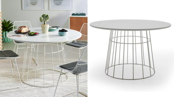 This simple, stunning table will draw the eye in all the right ways.