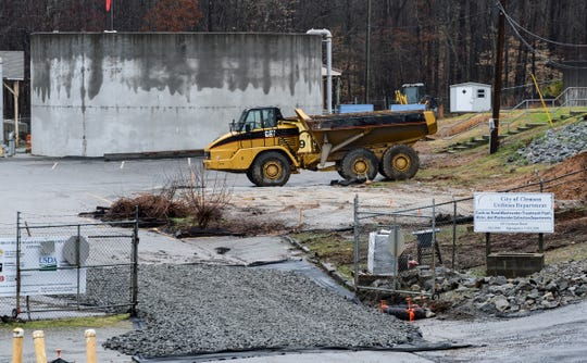 City of Clemson Utilities Department Cochran Road wastewater treatment plant expansion in Clemson Wednesday.