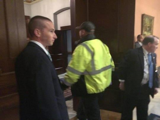 Jimmy Bales was brought out of the chamber on a stretcher, seeming alert and conscious.