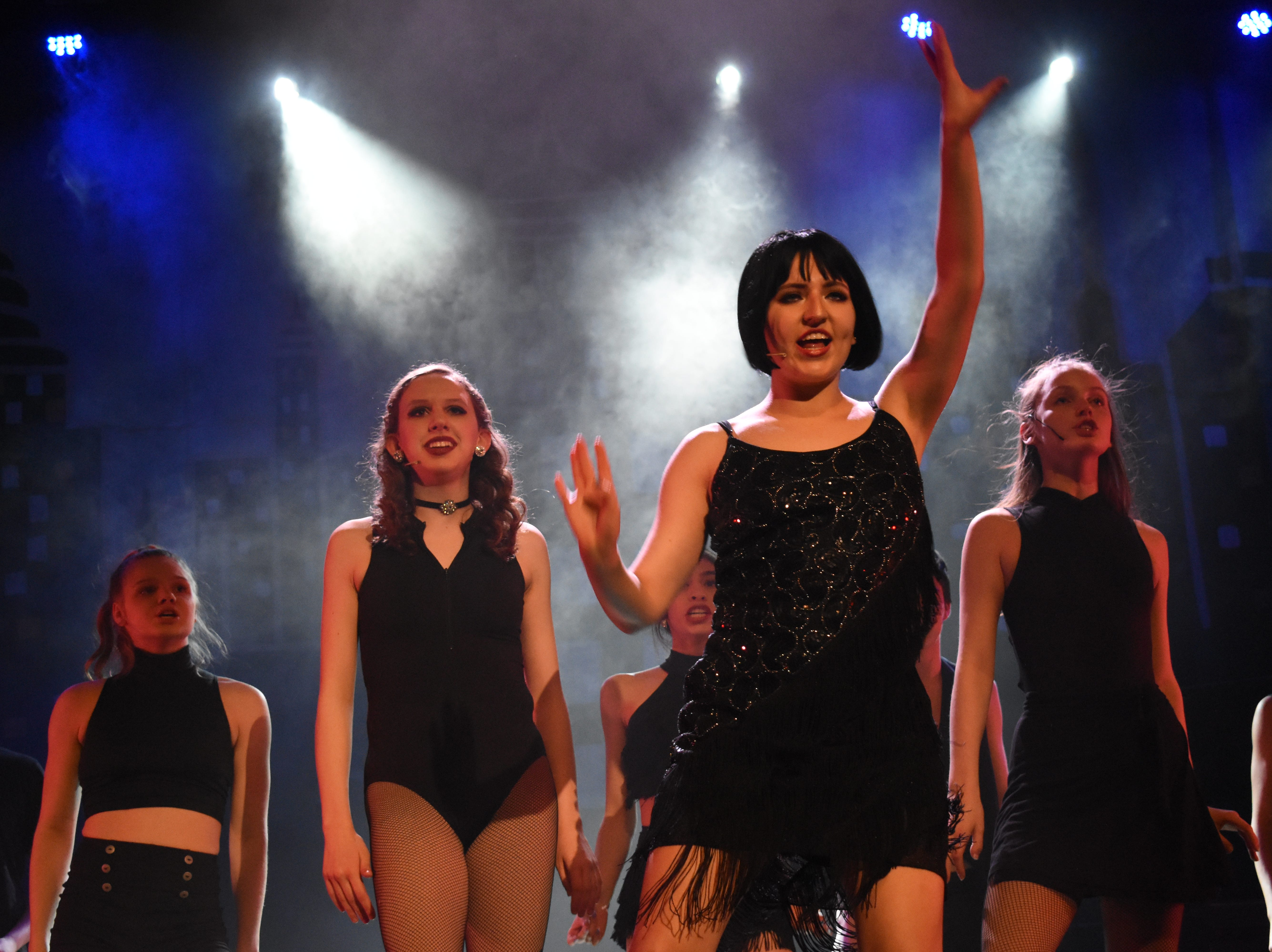 """Pineville High School Theatre's production of """"Chicago (High School Edition)"""" is set to open at 7 p.m. Thursday, Feb. 21, 2019 in the PHS auditorium. The show will be at 7 p.m. Friday and Saturday and at 2 p.m. Sunday. Tickets are $13.50 for adults, $10.50 for seniors and $8.50 for students. The musical, set in Chicago the 1920s, is about a married woman named Roxie Hart who murders a man with which she is having an affair. She is convicted and sentenced to death. She and another convict at the prison, Velma Kelly, vie for fame, fortune and headlines in the newspapers. Alyssa McClain stars as Roxie; Mia Huffman as Velma; Nico Zona as Billy Flynn; Gabrielle Bernard as Matron """"Mama"""" Morton and Kaiden Carbaugh as Amos Hart.Tickets can be purchased at www.pinevill"""
