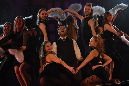 """Nico Zona stars as lawyer Billy Flynn in Pineville High School Theatre's production of """"Chicago (High School Edition)."""" The musical is set to open at 7 p.m. Thursday, Feb. 21, 2019 in the PHS auditorium. The show will be at 7 p.m. Friday and Saturday and at 2 p.m. Sunday. Tickets are $13.50 for adults, $10.50 for seniors and $8.50 for students. The musical, set in Chicago the 1920s, is about a married woman named Roxie Hart who murders a man with which she is having an affair. She is convicted and sentenced to death. She and another convict at the prison, Velma Kelly, vie for fame, fortune and headlines in the newspapers. Alyssa McClain stars as Roxie; Mia Huffman as Velma; Gabrielle Bernard as Matron """"Mama"""" Morton and Kaiden Carbaugh as Amos Hart. Tickets can be purchased at www.pinevillehightheatre.net."""