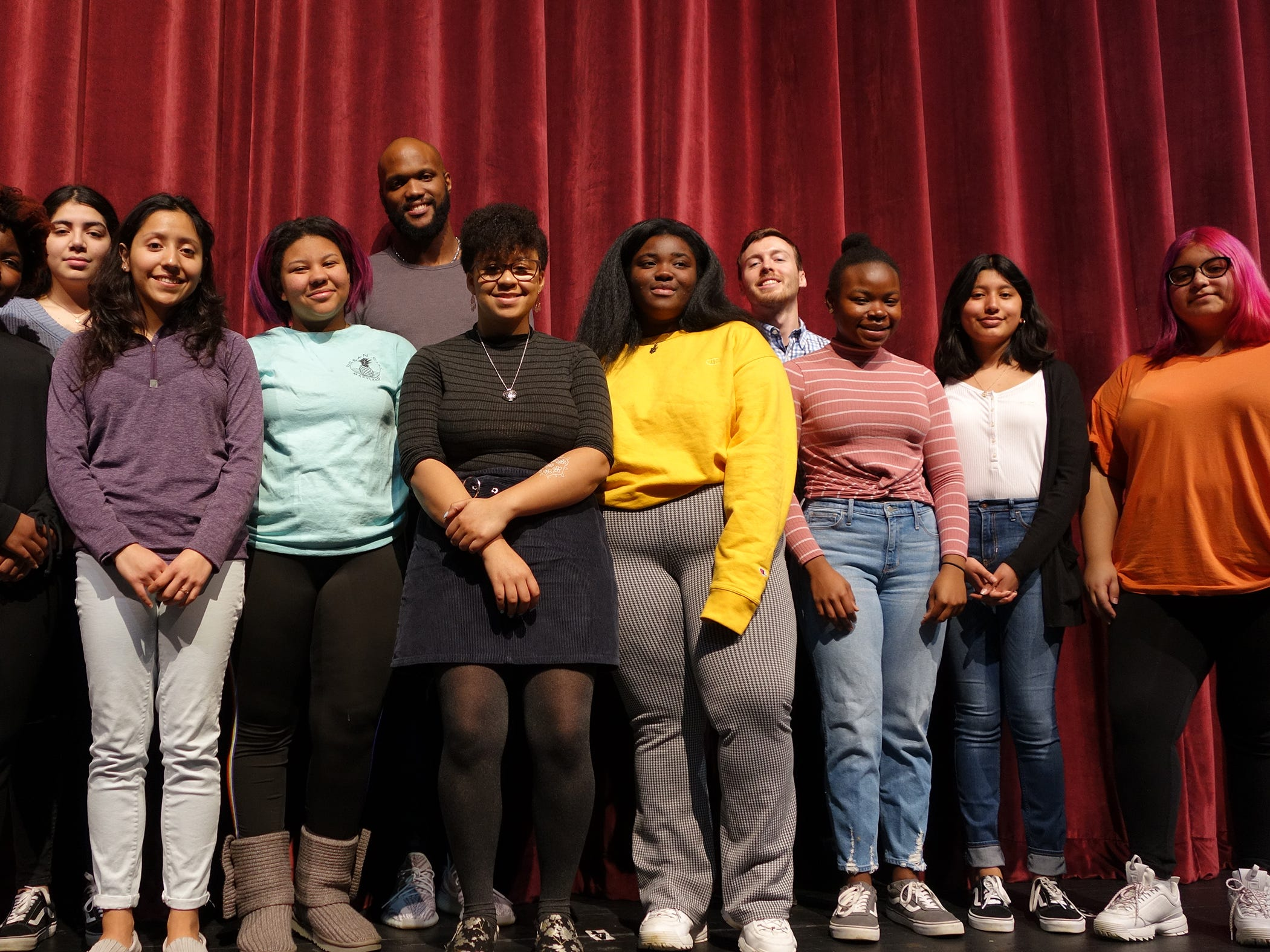 Red Bank Regional students and staff celebrated Black History Month with a narrated program that recognized contributions of African Americans in subjects that included the Civil Rights movement, music, literature, science, sports, politics and entertainment.