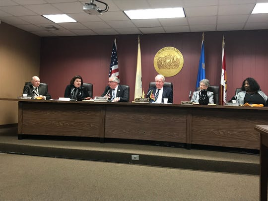 The Freehold Borough Council respond to unfounded rumors surrounding paid parking plans at the Feb. 20, 2019, meeting.