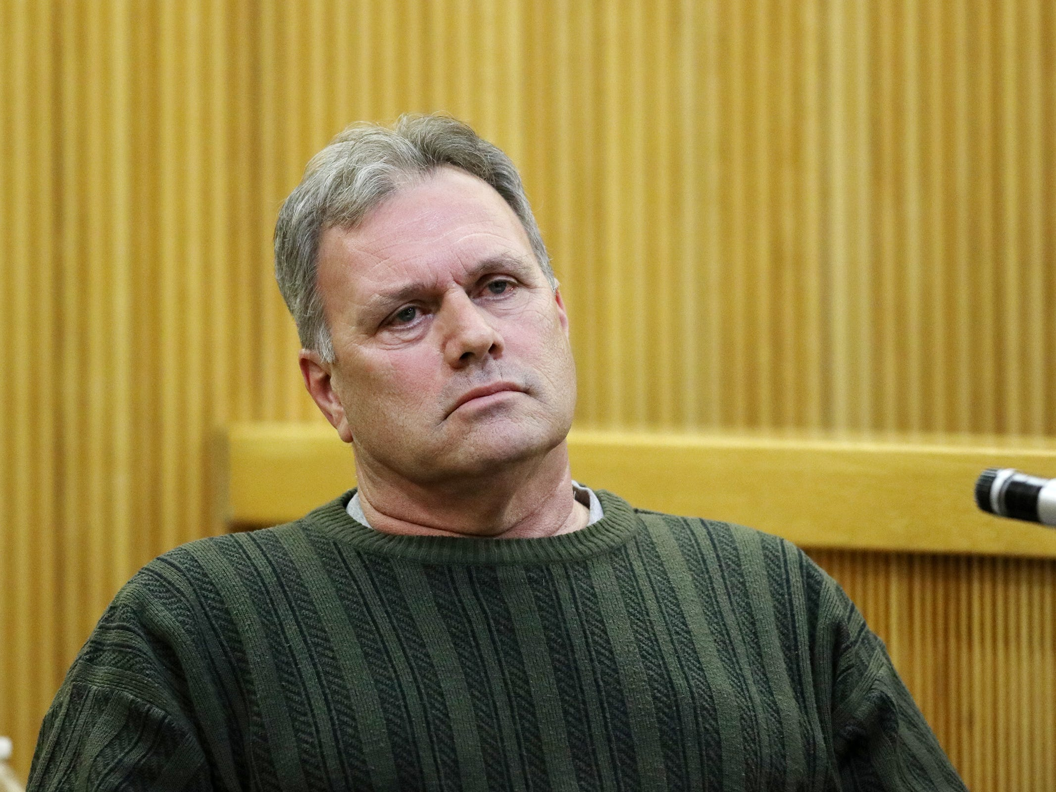 Craig Hetzel of Neptune testifies that he saw a woman who resembled Sarah Stern on the day she went missing during the trial of Liam McAtasney, who is charged with the murder of former high school classmate, Sarah Stern, before Superior Court Judge Richard W. English at the Monmouth County Courthouse in Freehold, NJ Wednesday, February 20, 2019.