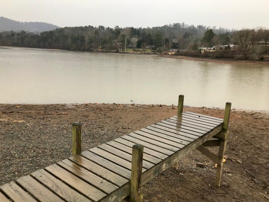 Beaver Lake in North Asheville has been lowered to accommodate dredging that will take place this winter and spring.
