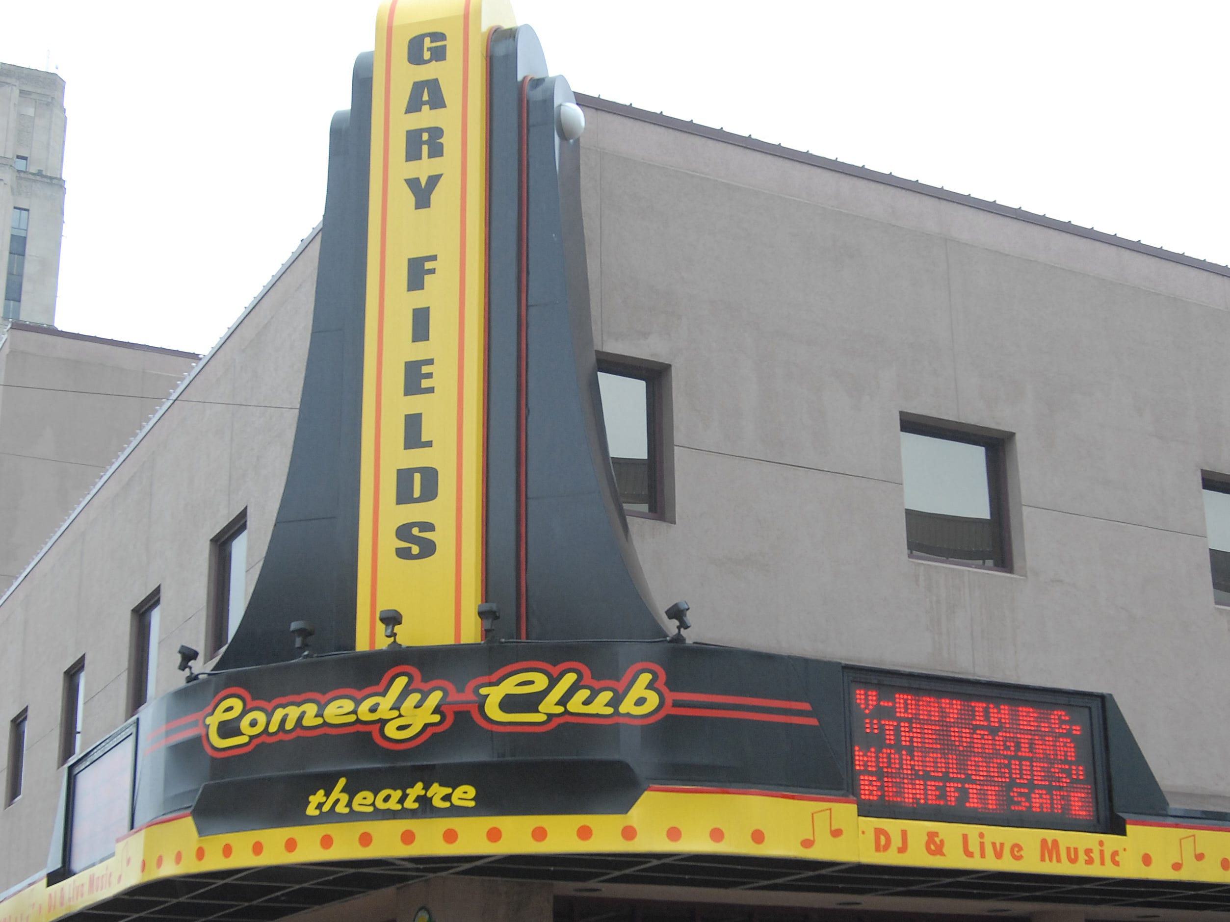 The former Gary Fields Comedy Club Theatre on West Michigan Avenue.