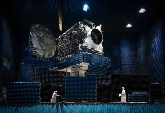 The Nusantara Satu communications satellite built by SSL in California.