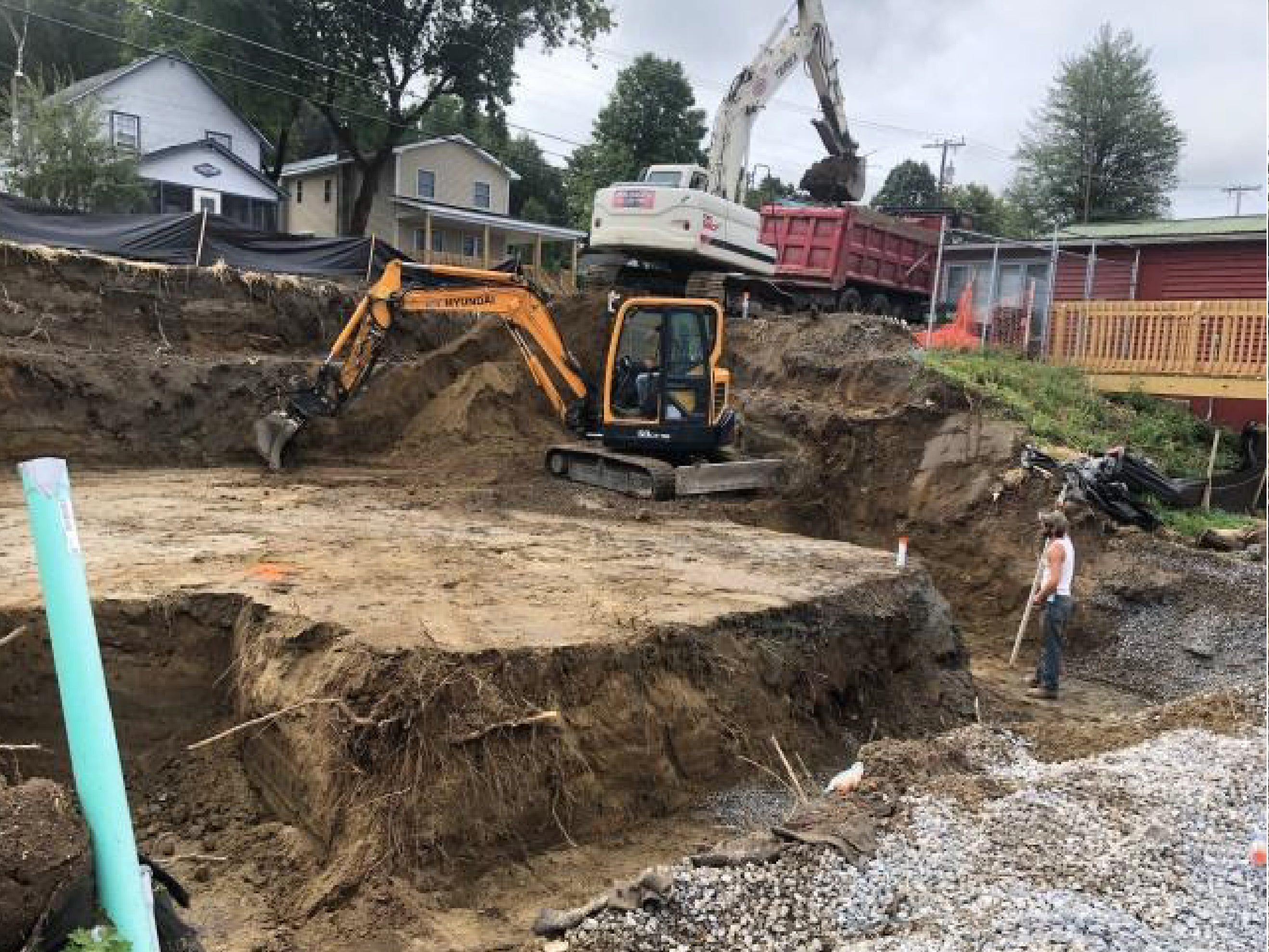 Excavation is underway for a new home on East Lakeshore Avenue in Colchester in this undated photograph submitted to town planners in 2018. A previous dwelling here was demolished in 2017.